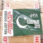 Box going to Flood relief in Pakistan