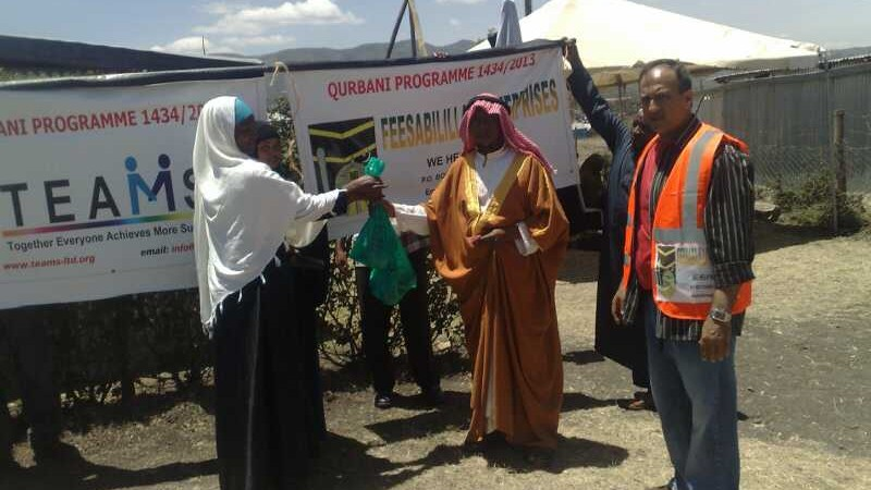 Feeding Thousands of People in Kenya through Qurbani 2013